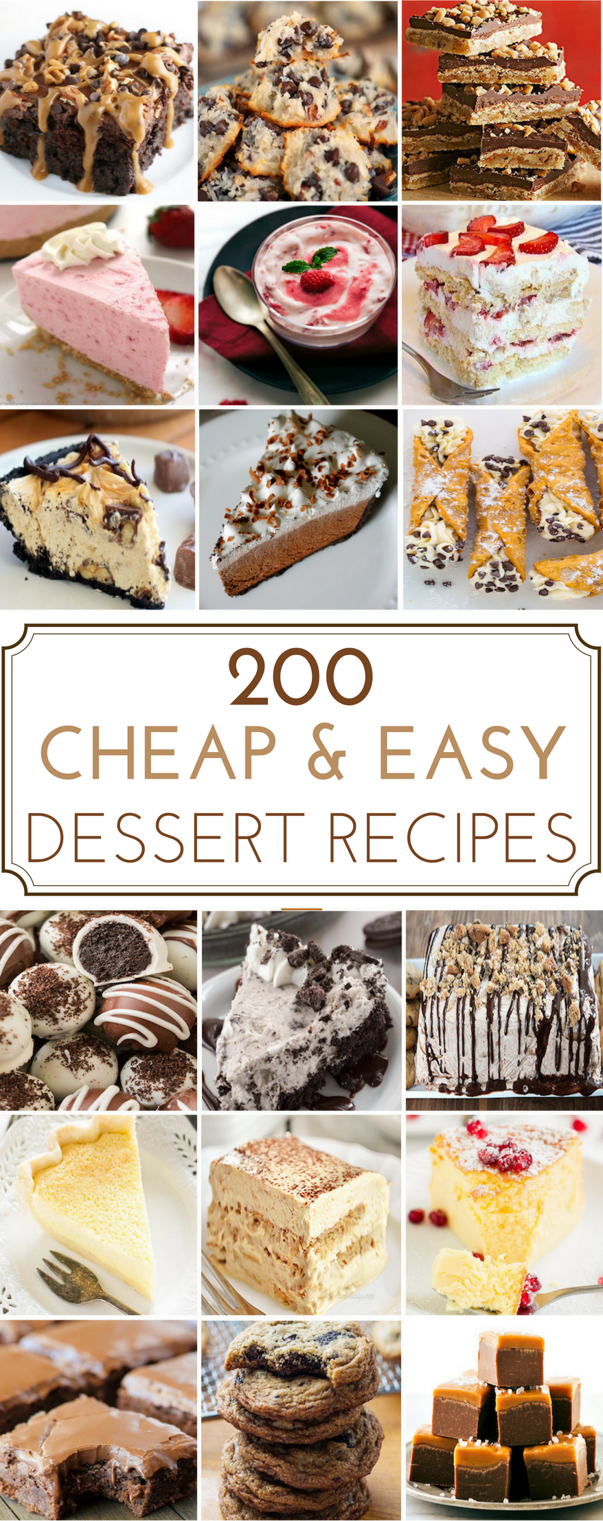 cheap and easy recipes for desserts