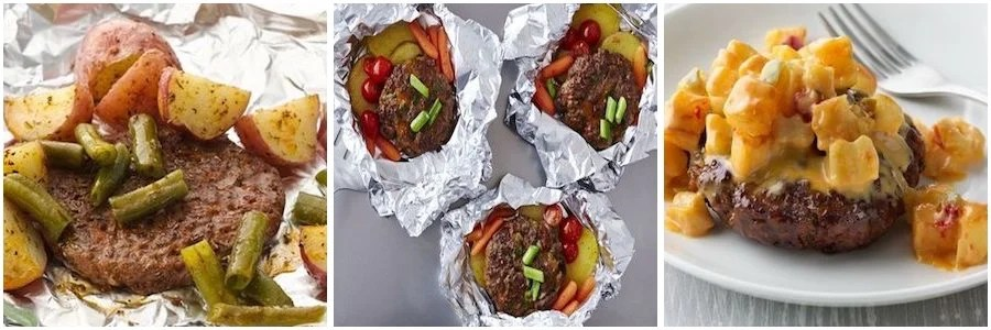 Grilled Beef Foil Pack Dinners