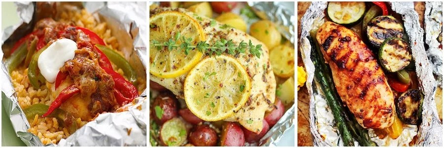Chicken Foil Pack Dinners for the Oven