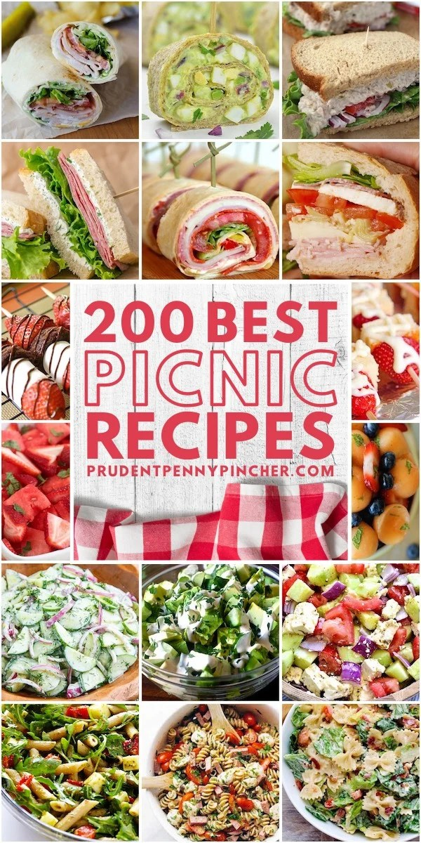 200 Best Picnic Food Ideas Prudent Penny Pincher