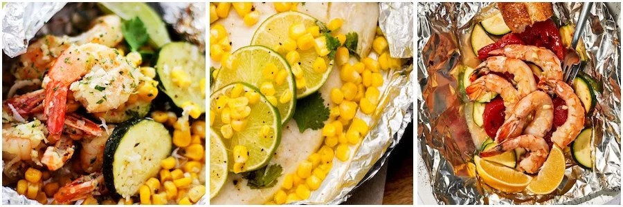 Grilled Seafood Foil Pack Dinners