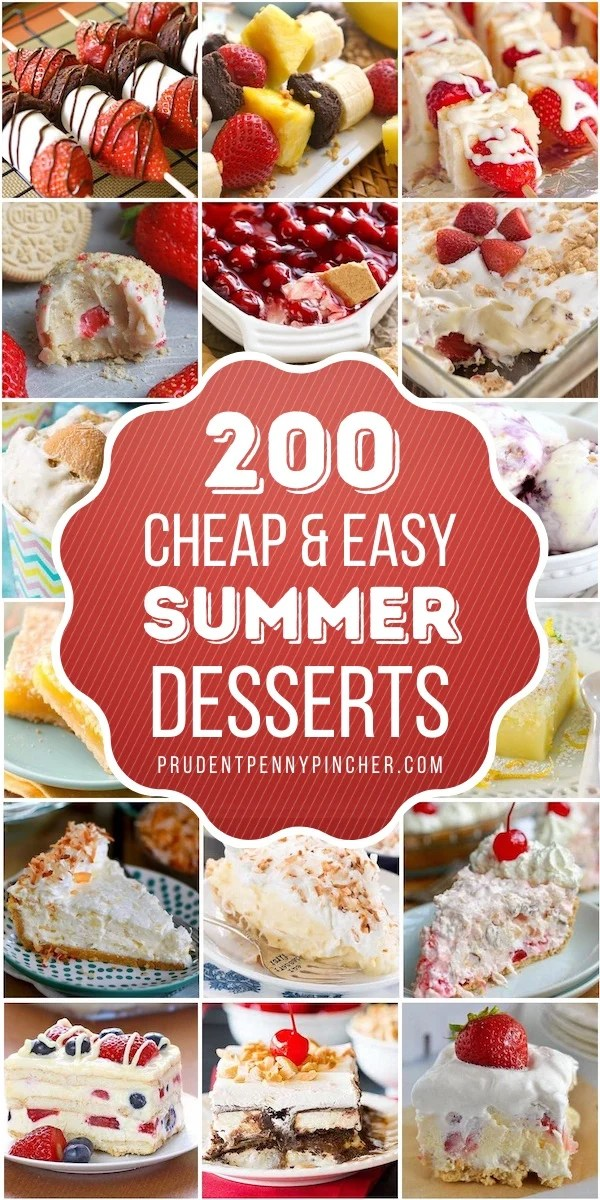 200 Cheap and East Summer Desserts