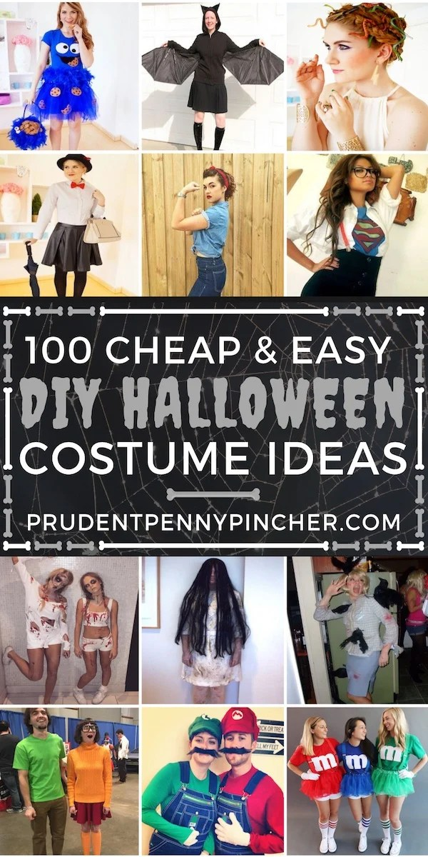 100 Cheap and Easy DIY Halloween Costumes