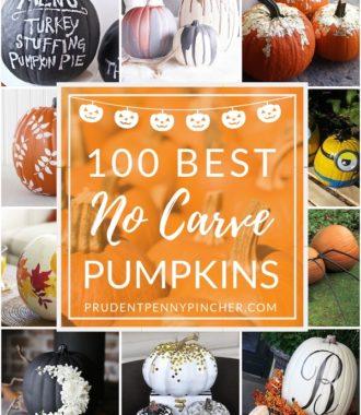 100 Best No Carve Pumpkin Decorating Ideas
