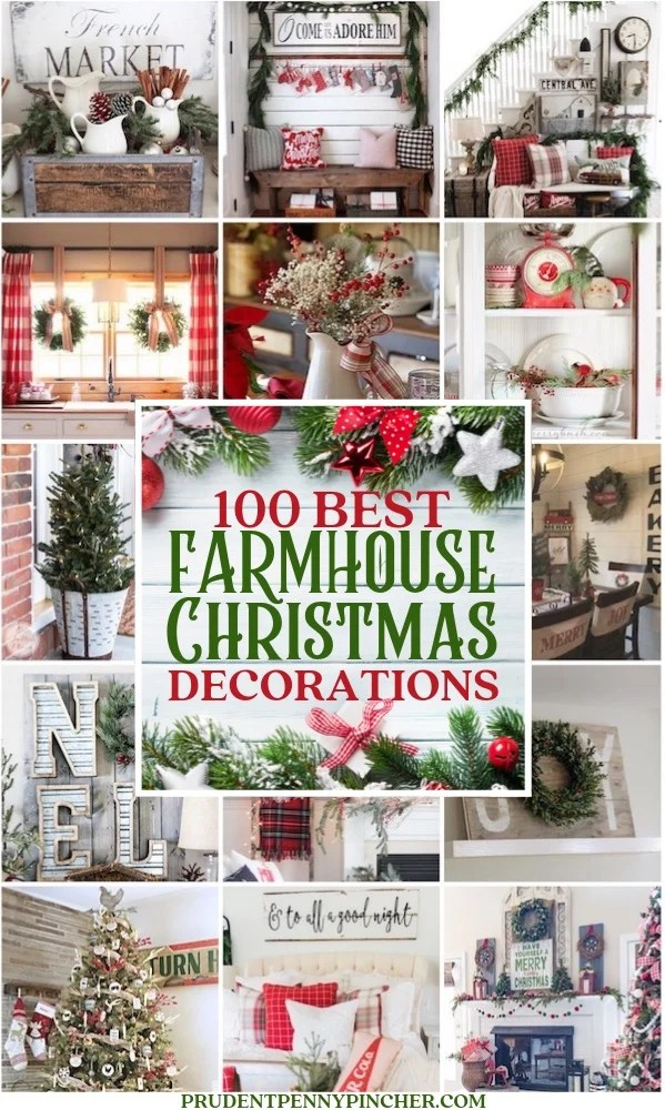 100 Best Farmhouse Christmas Decorations