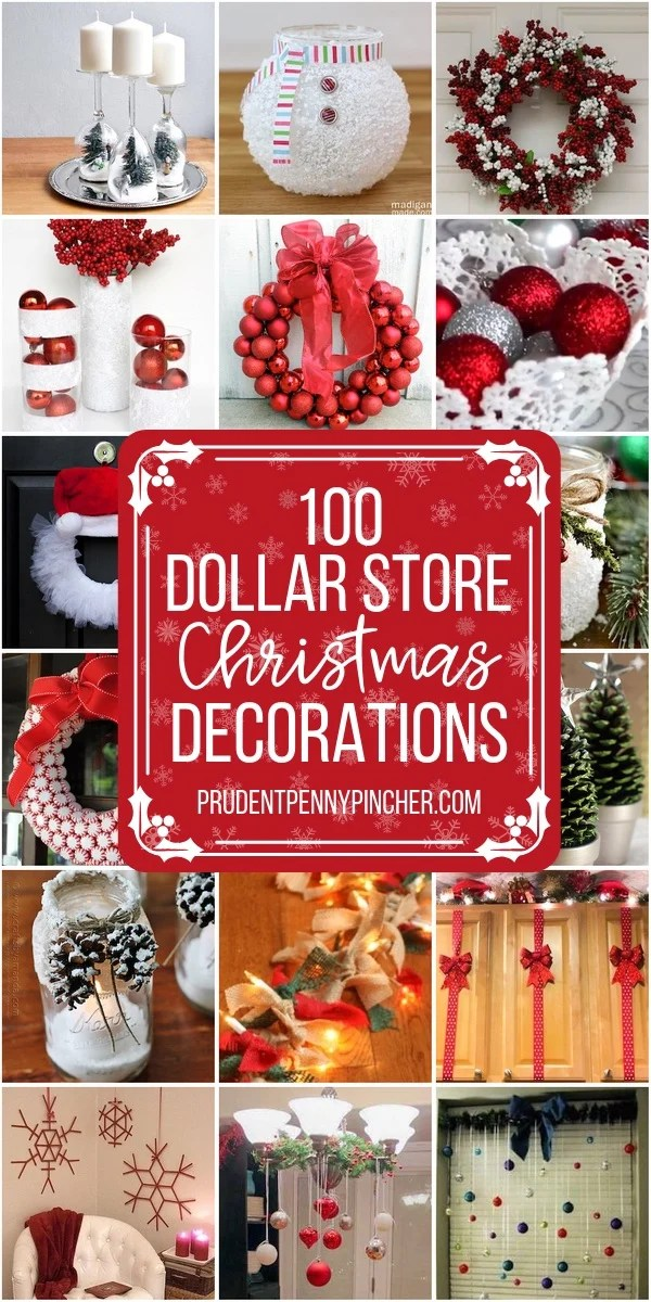 100 DIY Dollar Store Christmas Decor Ideas   Prudent Penny Pincher