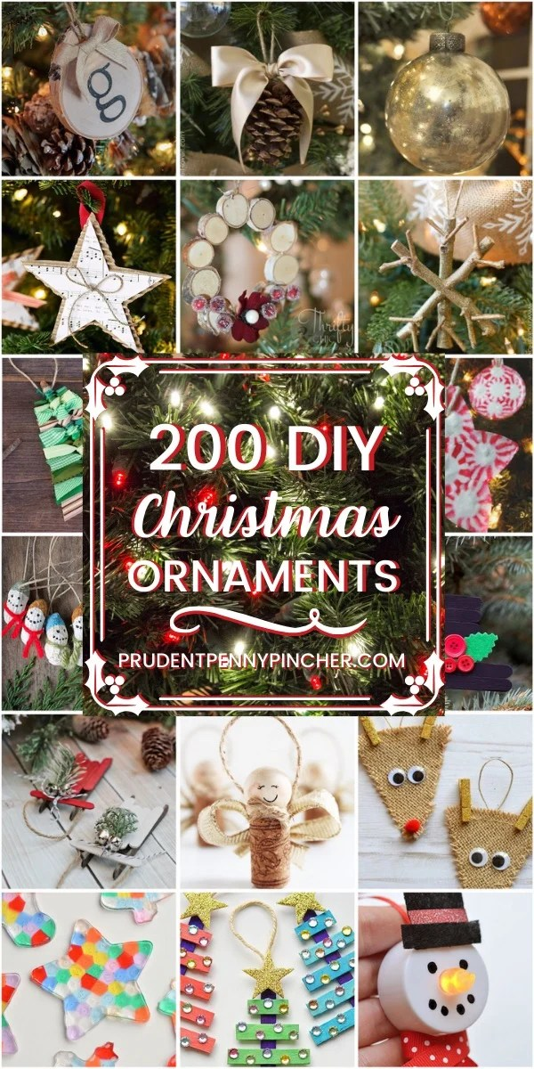 200 Diy Christmas Ornaments Prudent Penny Pincher