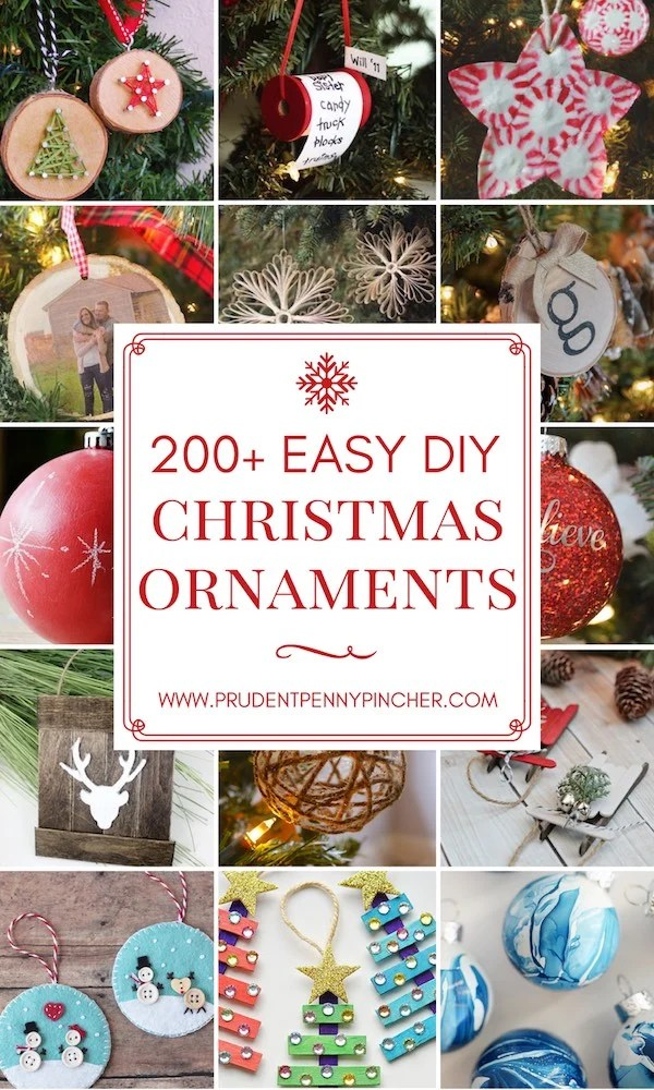 200 Easy DIY Christmas Ornaments
