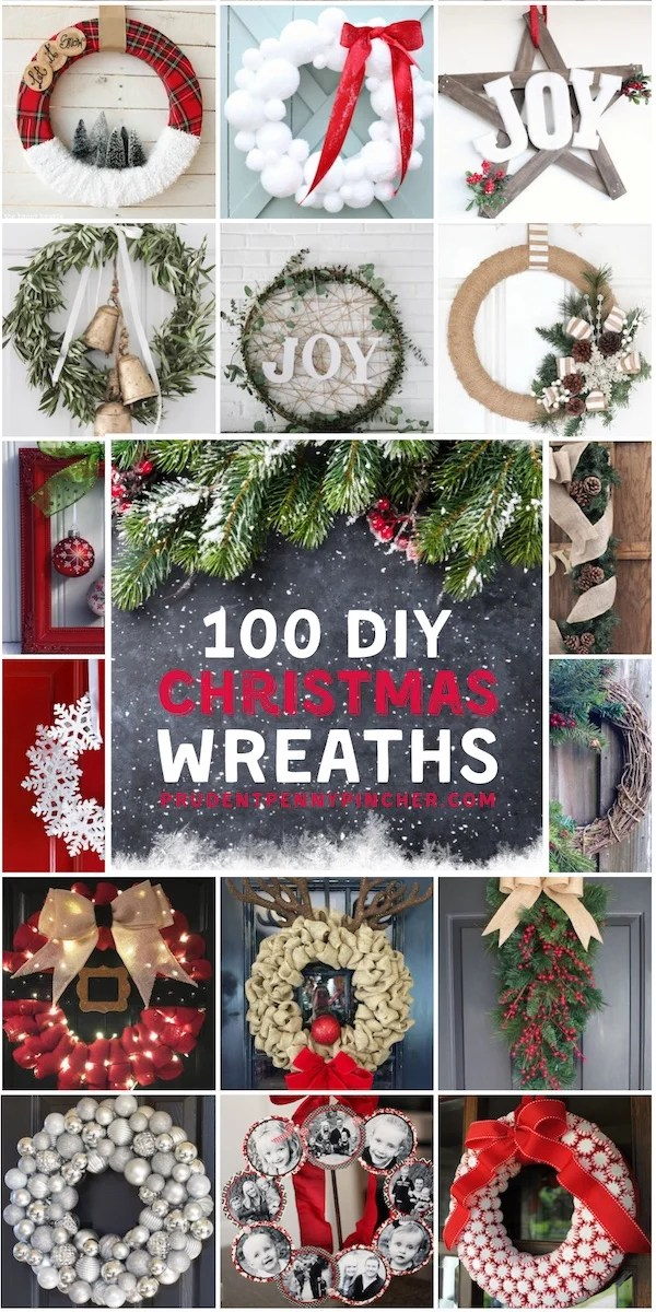 100 Best Diy Christmas Wreaths Prudent Penny Pincher