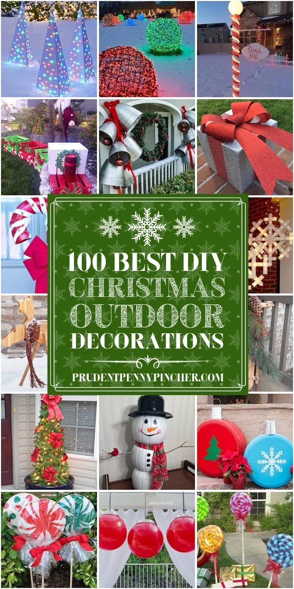100 Best DIY Outdoor Christmas Decorations