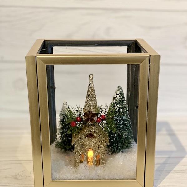 Dollar Store DIY Christmas Lantern