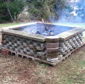 Diy Outdoor Fireplace Cheap Cinder Blocks