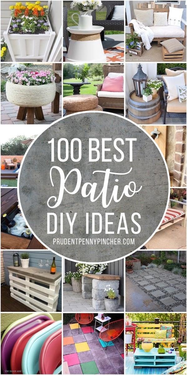 100 Best Diy Outdoor Patio Ideas Prudent Penny Pincher