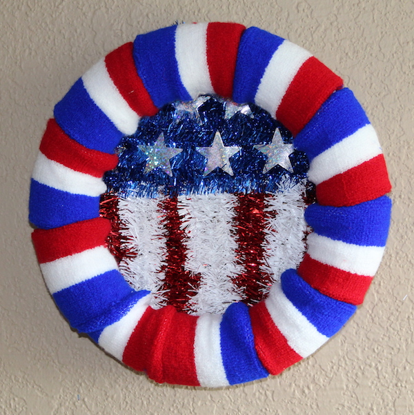 Red White and Blue 4th of July Wreath