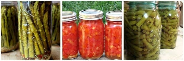 Canning Recipes for Vegetables