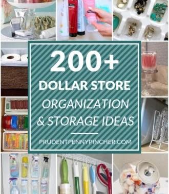 200 DIY Dollar Store Organization Ideas