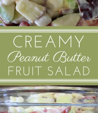 Creamy Peanut Butter Fruit Salad