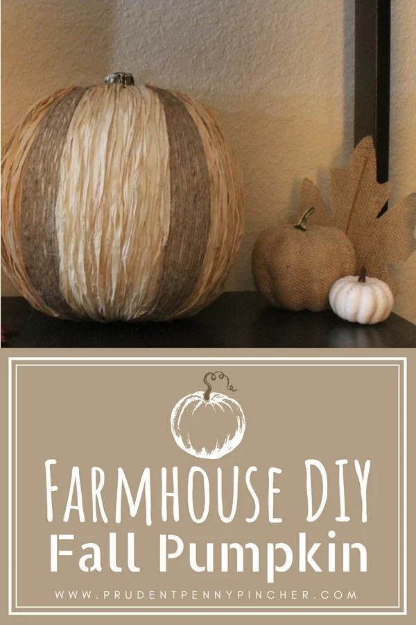 DIY Farmhouse Fall Pumpkin Decor Idea