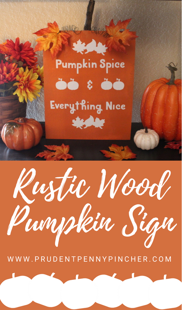DIY Rustic Wood Pumpkin Sign