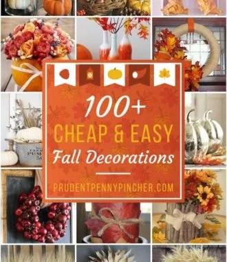 100 Cheap and Easy Fall Decor Ideas
