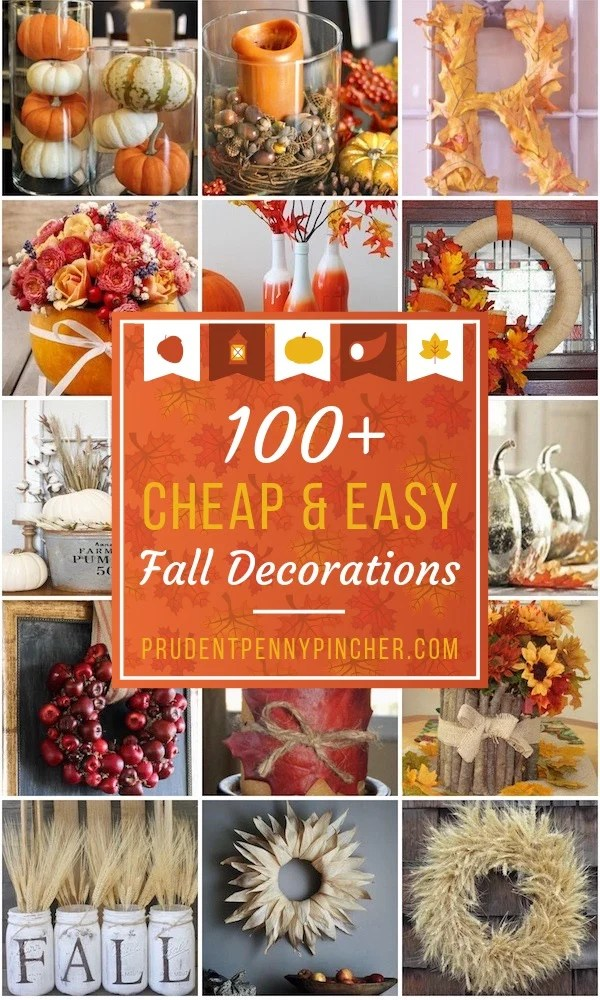 9 Cheap and Easy Fall Decor DIY Ideas - Prudent Penny Pincher