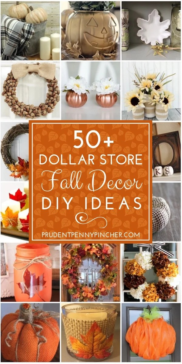 100 Dollar Store Fall Decor Ideas Prudent Penny Pincher