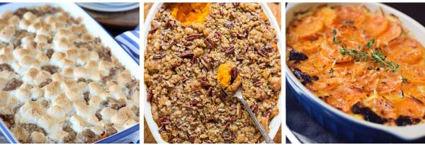 Sweet Potato Thanksgiving Casseroles