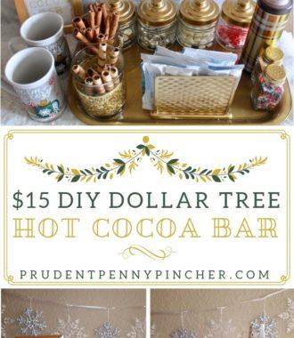 $15 DIY Dollar Tree Hot Chocolate Bar