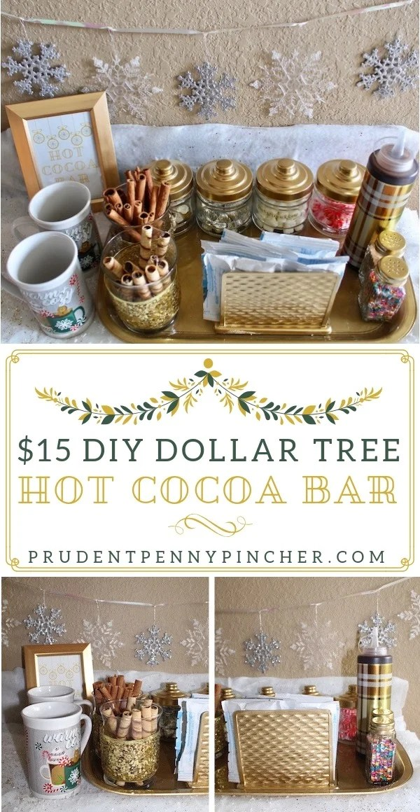 $15 DIY Dollar Tree Hot Chocolate Bar