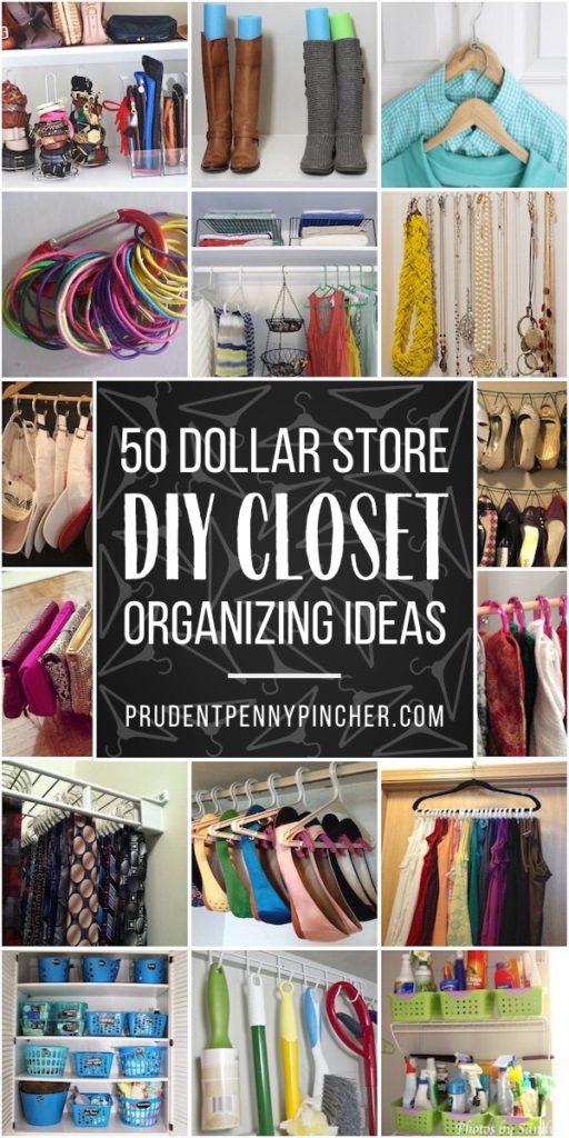 50 DIY Dollar Store Closet Organization Ideas