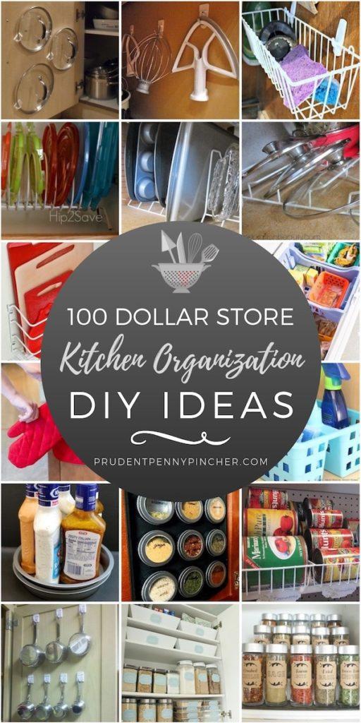 100 Dollar Store Kitchen Organization Ideas