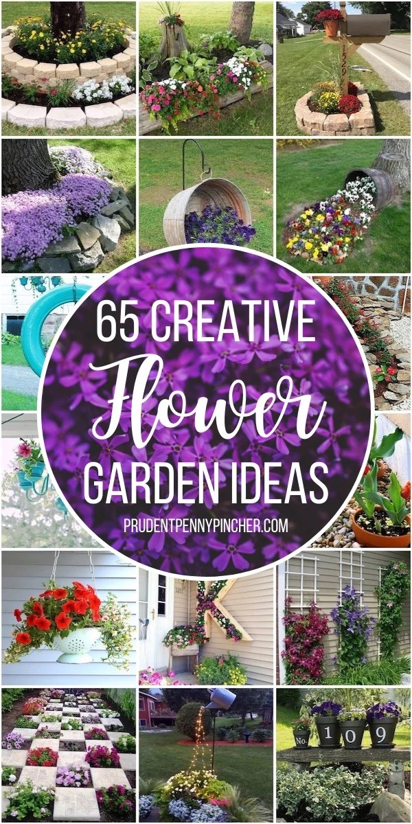 65 Creative Diy Flower Garden Ideas Prudent Penny Pincher