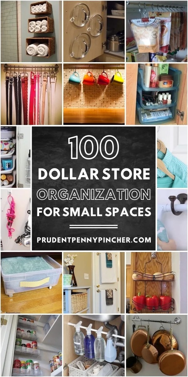 100 Dollar Store DIY Organization Ideas for Small Spaces