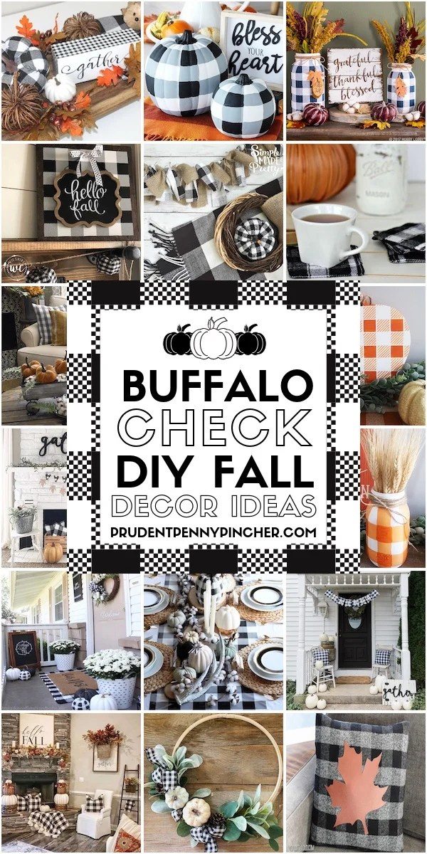 50 Buffalo Check Diy Fall Decor Ideas Prudent Penny Pincher