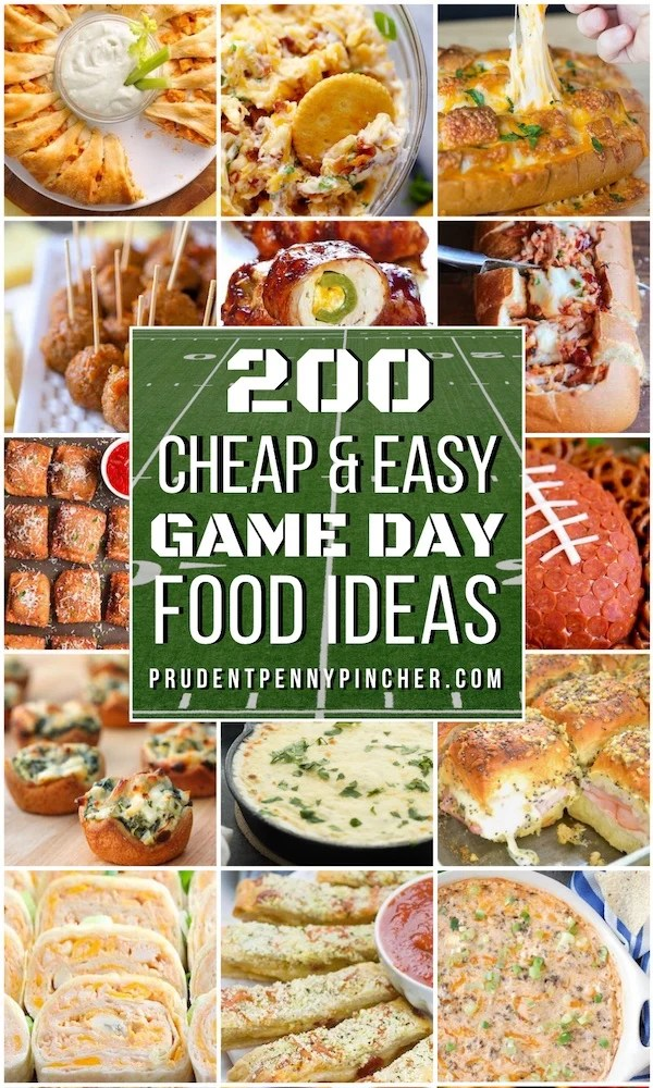 200 Cheap and Easy Game Day Food Ideas