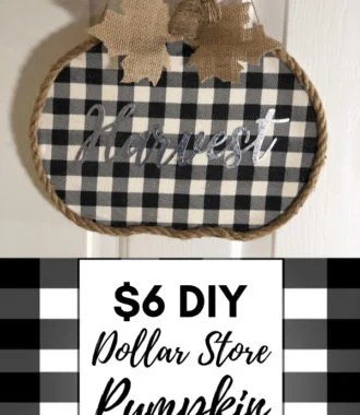 $6 DIY Dollar Store Pumpkin Fall Wreath