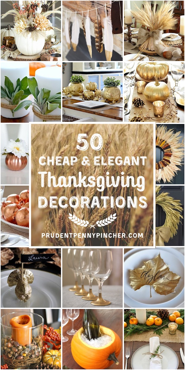 50 Cheap and Elegant DIY Thanksgiving Decorations