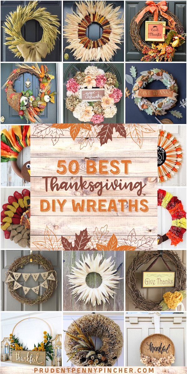 50 Best DIY Thanksgiving Wreaths