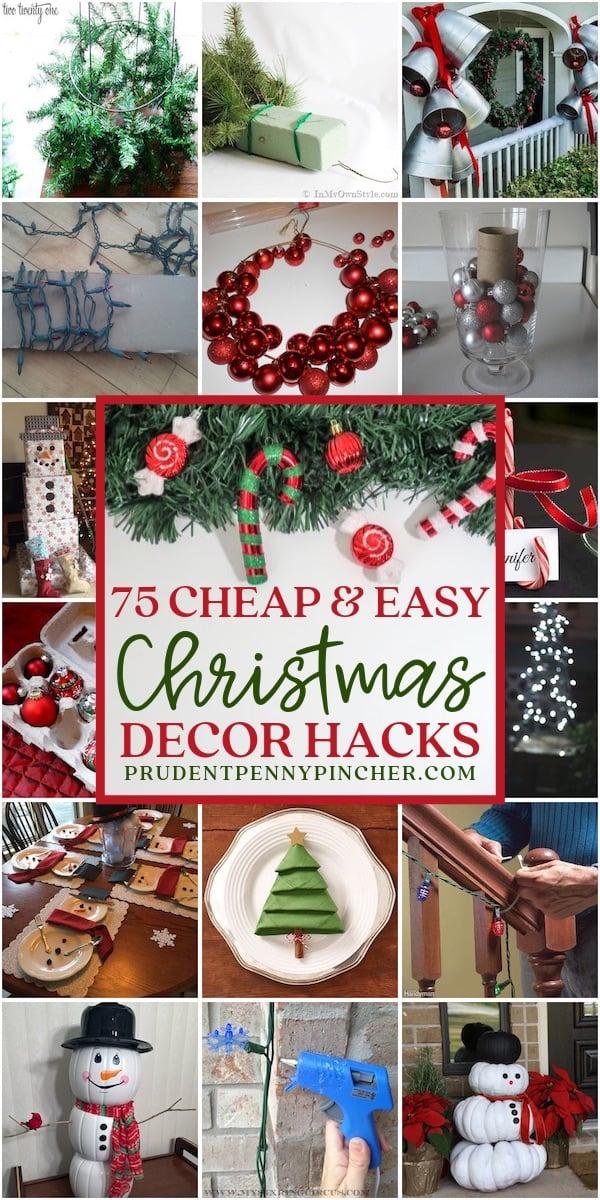 75 Cheap and Easy DIY Christmas Decor Hacks