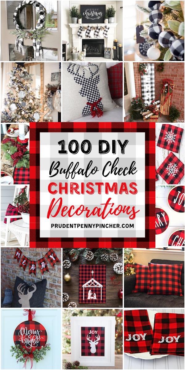 100 DIY Buffalo Check Christmas Decorations