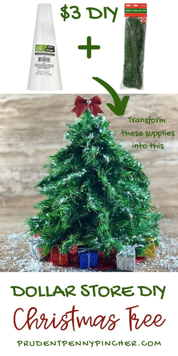 Dollar Store DIY Christmas Tree