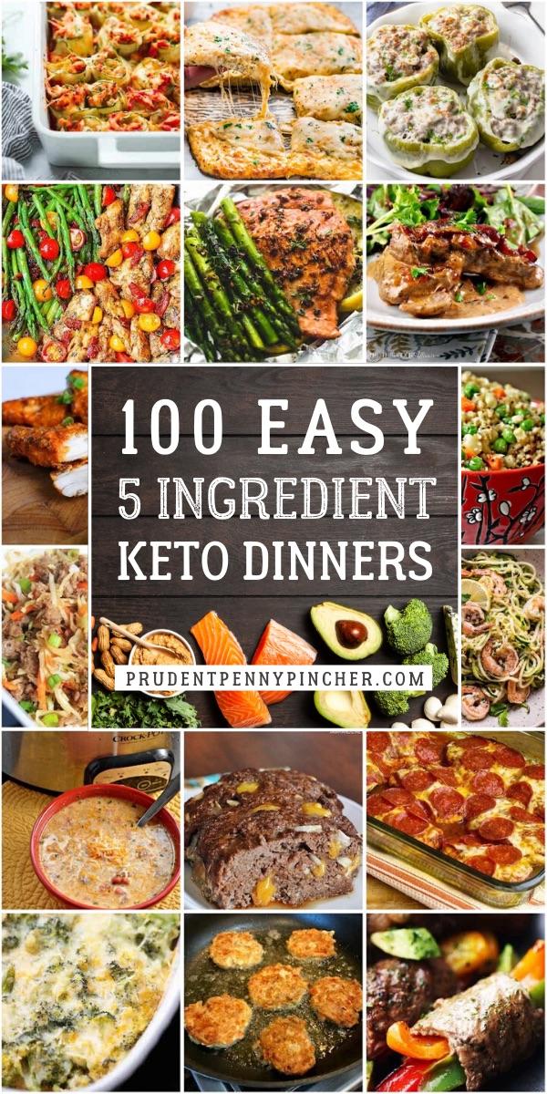 100 Easy 5 Ingredient Keto Dinner Recipes