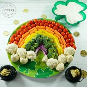 Rainbow Vegetable Platter with Dip