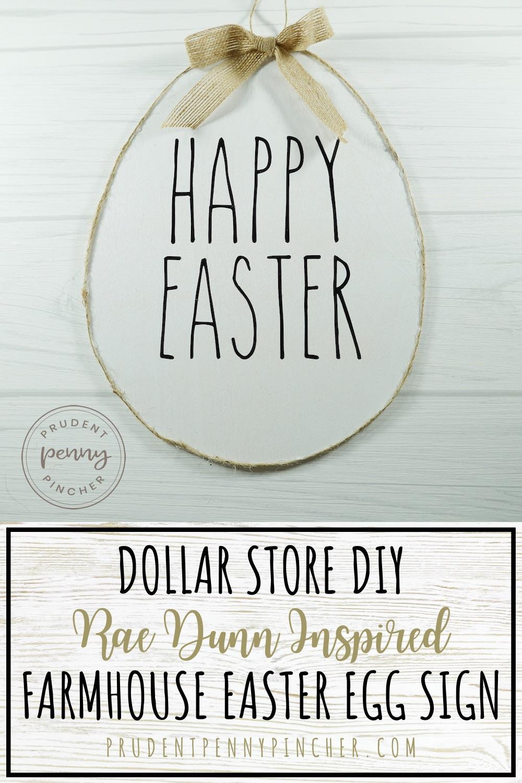 Dollar Store DIY Farmhouse Easter Sign