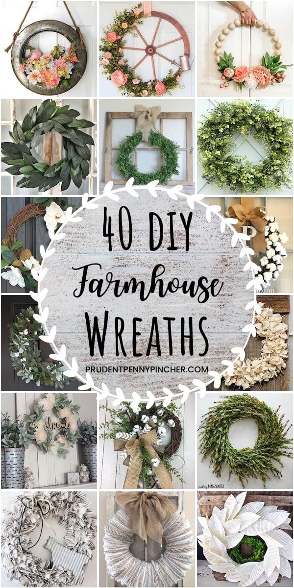 40 Diy Farmhouse Wreaths Prudent Penny Pincher