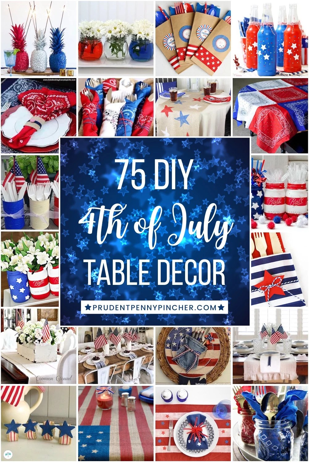 75 DIY 4th of July Table Decorations