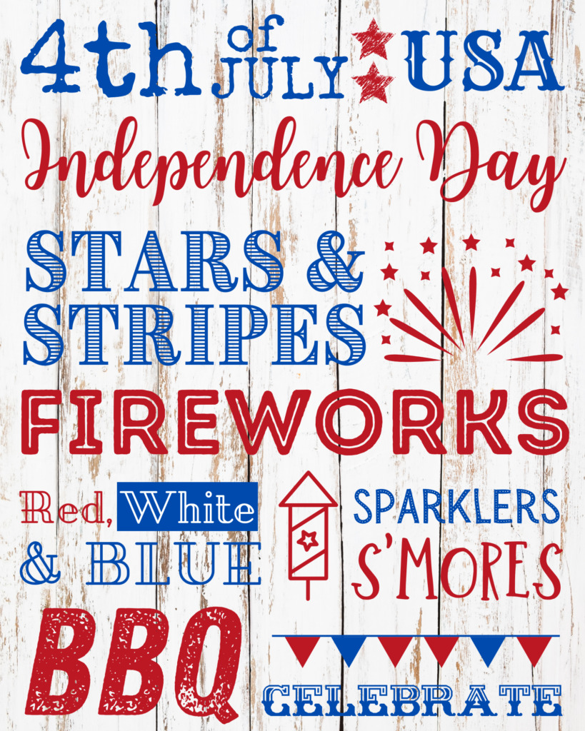 Free Printable 4th of July Decoration