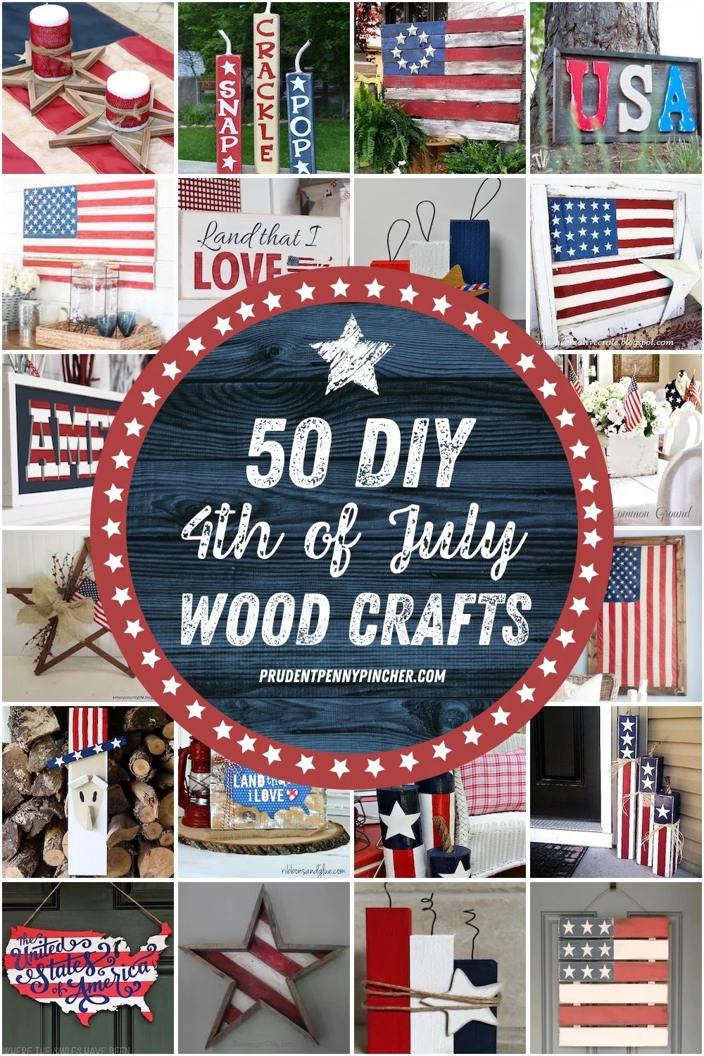 50 DIY 4th of July Wood Crafts