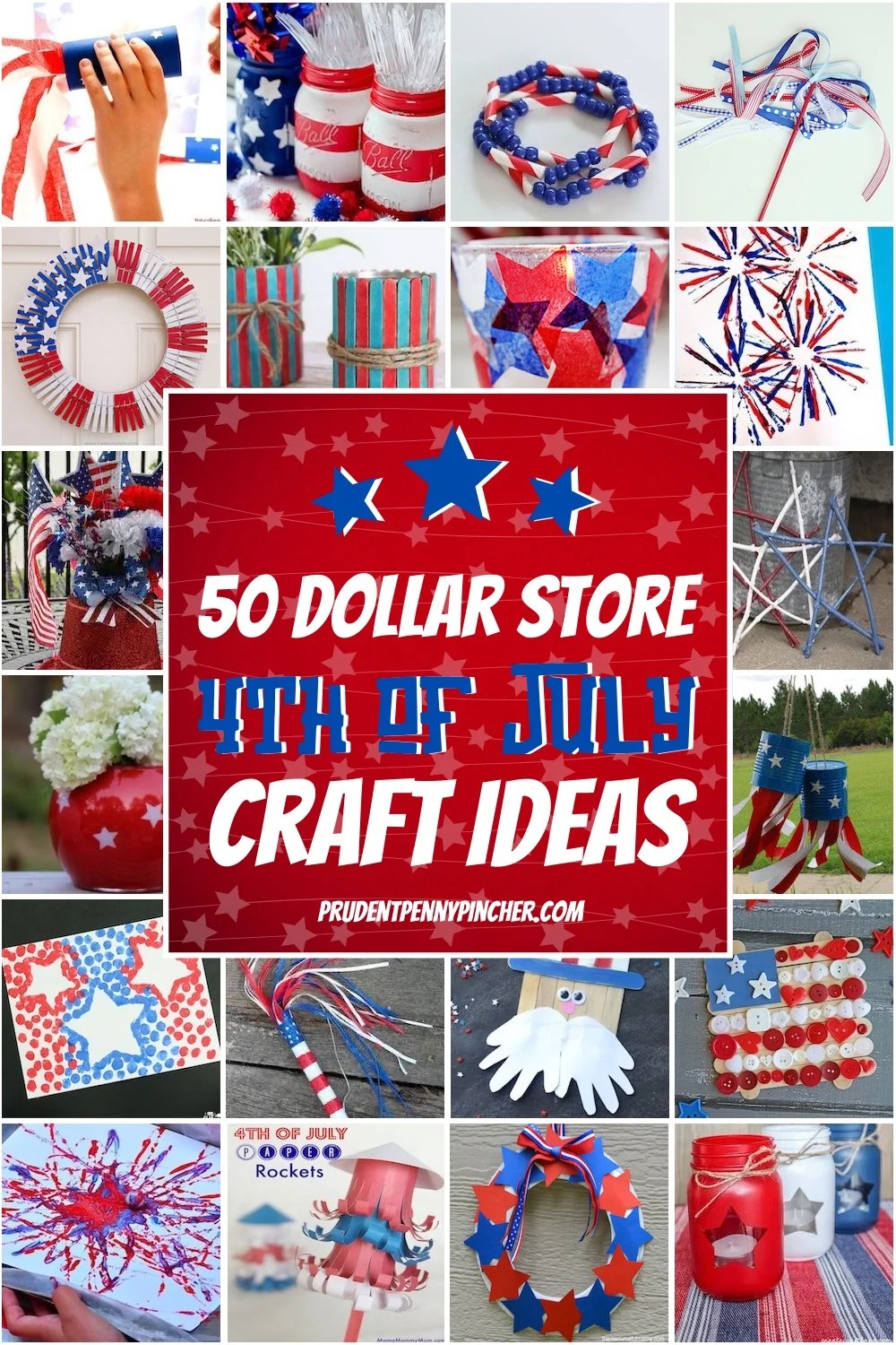 50 Dollar Store 4th of July Crafts