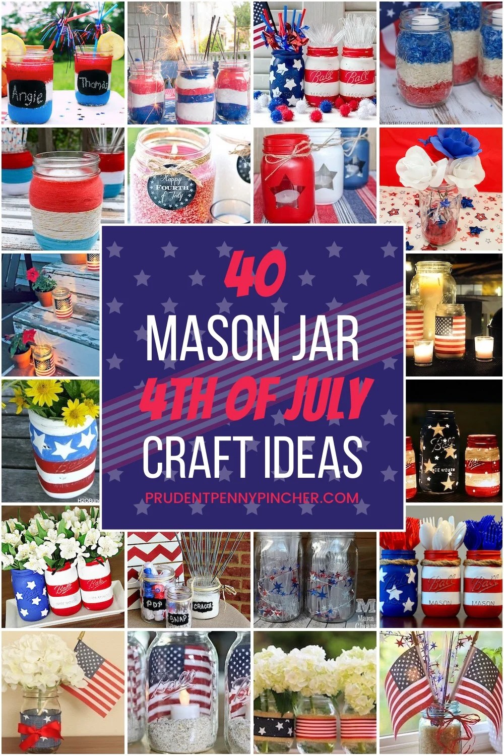 mason jar 4th of July crafts